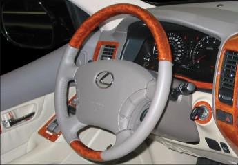 wood steering wheel, leather steering wheel, wood and leather steering wheel, wood and leather wrapped steering wheel