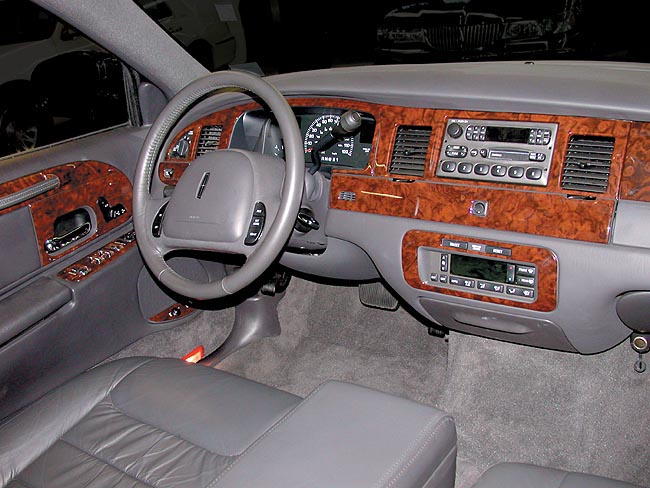 Wood Dash Kits For Cars Lincoln Town Car 2001-up real wood trim by B & I Trim Product ...