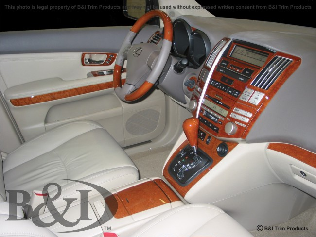 wd515 lexus rx330 2004 2005 wood dash kit by b i trim. Black Bedroom Furniture Sets. Home Design Ideas