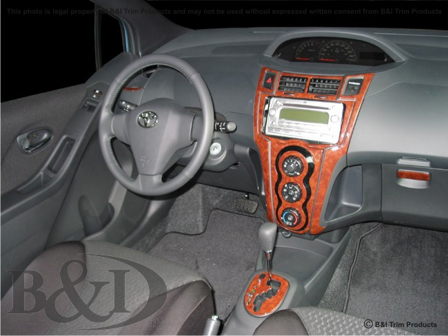 Wd623 Toyota Yaris Lift Back 2007 Up Wood Dash Kit By B Amp I